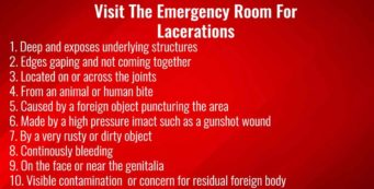 When is a laceration an emergency?
